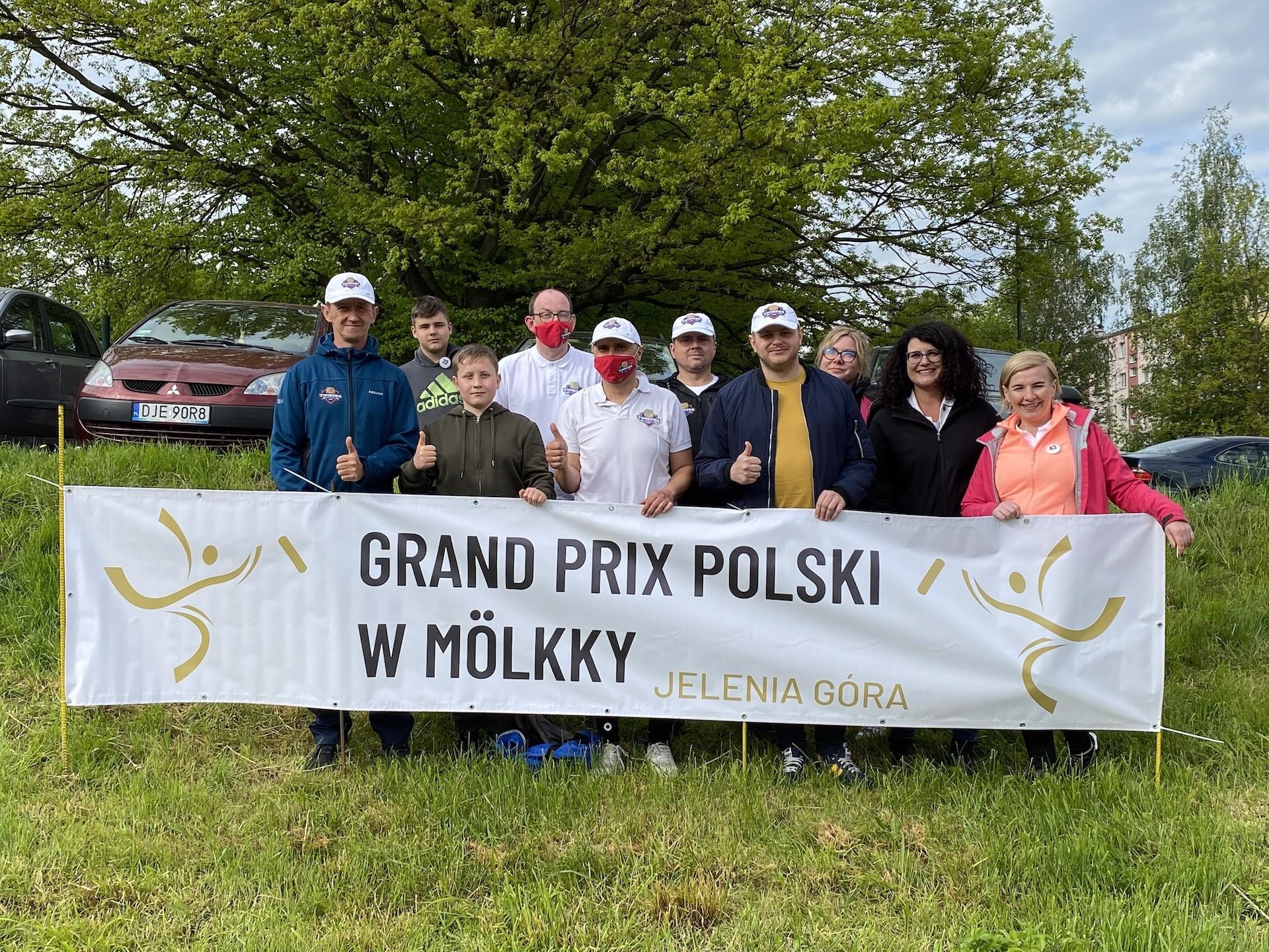 Reprezentacja Timbers Bojanowo podczas 1 rundy Grand Prix Polskie w Mölkky w Jeleniej Górze