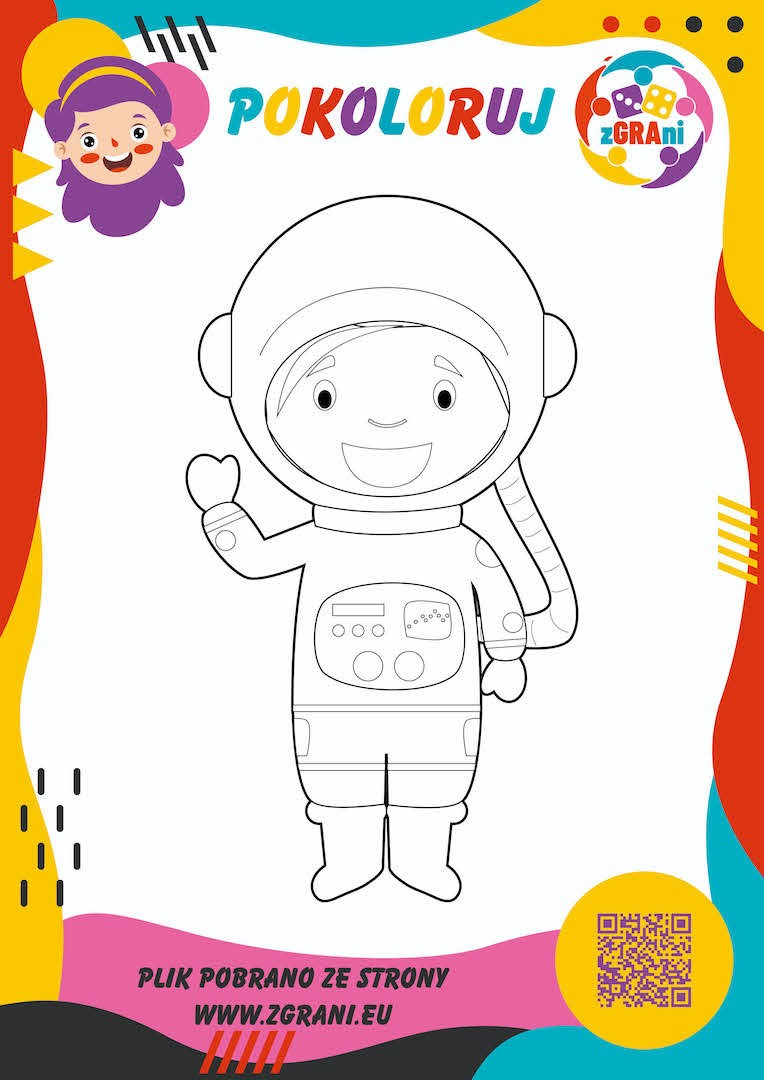 Astronauta - wersja kolorowa
